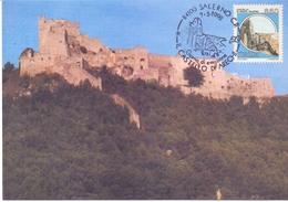 CASTELLO DI ARECHI SALERNO ESPOSIZIONE FILATELICA  FDC   1992 MAXIMUM POST CARD (GENN200169) - Esposizioni Filateliche