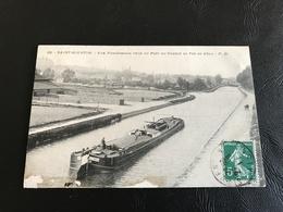 82 - SAINT QUENTIN Vue Panoramique Prise Du Pont Du Chemin De Fer De Velu - 1911 Timbrée - Saint Quentin