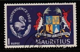 Mauritius 1968 Independence 1R Multicoloured SW 337 O Used - Mauritius (1968-...)