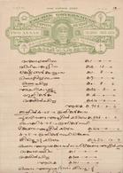 INDIA Cochin 2-ANNAS Court Fee DOCUMENT 1912 Good/USED - Cochin
