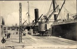 Cp La Pallice Rochelle Charente Maritime, Quai Nord, Dampfer Grissa - France