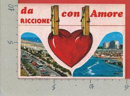 CARTOLINA VG ITALIA - RICCIONE (RN) - Con Amore - Vedutine Multivue - 10 X 15 - 1993 - Rimini