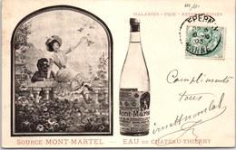 02 CHÂTEAU THIERRY - Carte Publicitaire De L'eau MONT MARTEL - Chateau Thierry