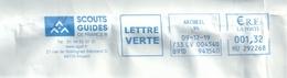 Ema Neopost HU _ Scouts Et Guides De France - Enveloppe Réduite 190 X 140 - EMA ( Maquina De Huellas A Franquear)