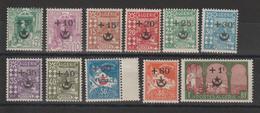 Algérie 1927 Série Surchargée 58 à 68 11 Val (manque 69 Et 70) ** MNH - Ungebraucht
