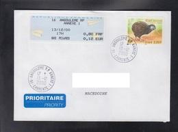 FRANCE, COVER / REPUBLIC OF MACEDONIA ** - Kiwi