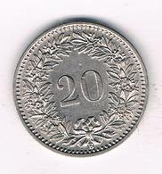 20  RAPPEN 1893  ZWITSERLAND /310/ - Zwitserland