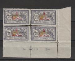 Maroc 1914-21 Merson 52 En Bloc De 4 ** MNH - Ongebruikt