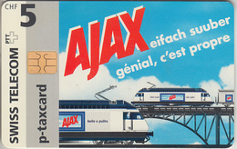 SUISSE - PHONE CARD - TAXCARD-PRIVÉE CHIP ***  TRAIN & AJAX  *** - Schweiz