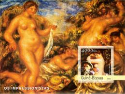 Guinea  Bissau  2003 Nude  Painting Of Pierre-Auguste Renoir - Guinea-Bissau