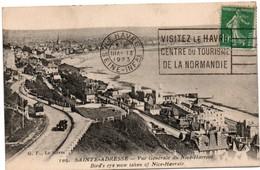 Le Havre 1923 - Flamme Visitez Le Havre Centre Du Tourisme De La Normandie - Courronne Mal Montée - Vue Sainte-Adresse - Marcophilie (Lettres)