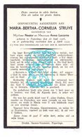 DP Maria Bertha C. Struye / Lacante 10j. ° Poperinge 1928 † 1939 - Devotion Images