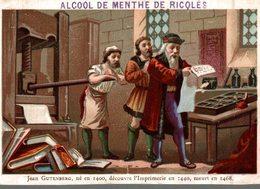 CHROMO ALCOOL DE MENTHE DE RICQLES  JEAN GUTENBERG - Chromos