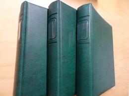 3 Lindner ETB Alben Grün Mit Je Ca. 25 Hüllen (12952) - Alben & Binder