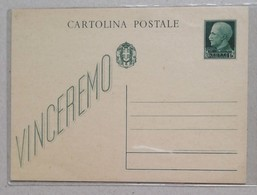 "Cartolina Postale ""Vinceremo"" Non Viaggiata - 1900-44 Victor Emmanuel III"