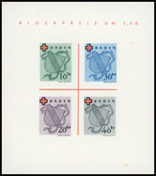 (*) N°1 - Bloc Croix-Rouge : Les 3 Blocs : BADE, ETAT RHENO-PALATIN Et WURTEMBERG. ND. SUP. - France (former Colonies & Protectorates)