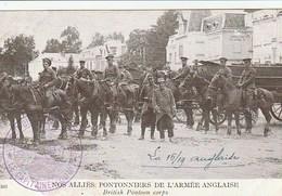 Nos Alliés Pontonniers  De L'armée Anglaise -   Tampon Sur La Carte  Guerre Franco Allemande 2me Régt Du Génie F-M - Guerre 1914-18