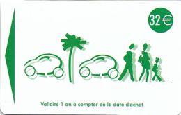 CARTE DE STATIONNEMENT BANDE MAGNÉTIQUE CANNES 06 ALPES-MARITIMES CARTE A DÉCOMPTE  CRÉDIT 32 € - Francia