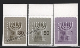 Israel 2009  Yv. 1944-46, Definitive, Menora, Adhesive – Tab - MNH - Israel