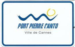 CARTE DE STATIONNEMENT BANDE MAGNÉTIQUE CANNES 06 ALPES-MARITIMES CANNES PORT PIERRE CANTO - Francia