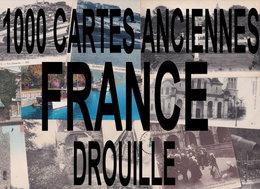 1000 CARTES POSTALES ANCIENNES DE FRANCE - Cartes Postales