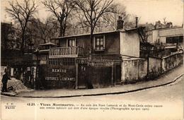CPA PARIS 18e Vieux Montmartre. Des Rues Lamarck Et Du Mont-Cenis F. Fleury (373685) - Arrondissement: 18