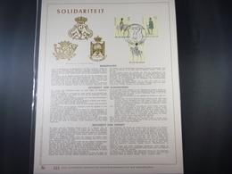 "BELG.1981 2031/33 FDC Filatelic Gold Card NL. : "" SOLIDARITEIT "" - FDC"