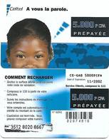 @+ Gabon - Celtel - 5000 FCFA - Filette Et Rhinoceros (11/2002) - Gabon