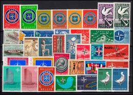 Europa NATO-Ausgaben Jahrgang 1959-1989 Komplett, ** Postfrisch - Europäischer Gedanke