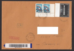 Laos 2015 Mi 2260 Registered Letter To Gerrmany - Laos