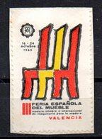 Viñeta De III Feria Española Del Mueble Valencia - Spanien