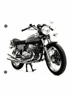 "Kawasaki 750 +-12cm X 16cm "" Perforada "" Moto MOTOCROSS MOTORCYCLE Douglas J Jackson Archive Of Motorcycles - Altri"