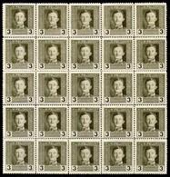 Austria,1917,3 H,Mi#55A,Y&T#51,MNH * *,25 Pieces,as Scan - Unused Stamps