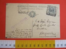 PC.3 ITALIA REGNO CARTOLINA POSTALE - 1918 LEONI 15 CENT MILL NO DA GRIGNASCO NOVARA X BORGOSESIA VERCELLI 1919 - 1900-44 Victor Emmanuel III