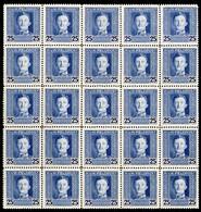 Austria,1917,25 H,Mi#62A,Y&T#68,MNH * *,25 Pieces,as Scan - Unused Stamps