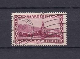 Saargebiet - 1927 - Michel Nr. 114 - PF I - Kreis Rechts An Der Rechten Eckverzierung -  Gest. - 1920-35 Saargebiet – Abstimmungsgebiet