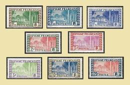 GUYANE 1929-38 - YT Entre  126A Et  132  - Hôtel Du Gouvernement - NEUFS** -   Cote  12.60e - Neufs