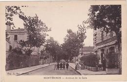 Loire : MONTBRISON : Avenue De La Gare ( Animation Avec Café Restaurant OGIER ) - Montbrison