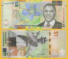 Bahamas1 Dollar P-77 2017 UNC Banknote - Bahamas
