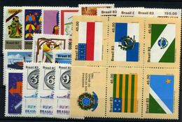 Brasil Nº 1567/70, 1584/90, 1600/3, 1599, 1615/17, 1633/7. Año 1982/3 - Brazilië
