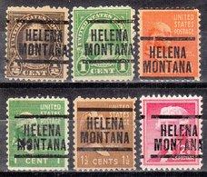 USA Precancel Vorausentwertung Preo, Locals Montana, Helena 204, 6 Diff., Perf. 11x10 1/2 - Vereinigte Staaten