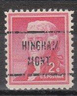 USA Precancel Vorausentwertung Preo, Locals Montana, Hingham 721 - Vereinigte Staaten