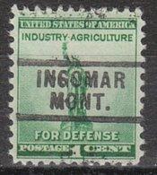 USA Precancel Vorausentwertung Preo, Locals Montana, Ingomar 729 - Vereinigte Staaten