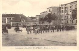 67 BAS RHIN Départ De Manoeuvres Au Quartier Caudrelier D'HAGUENAU - Haguenau