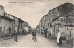 I5- 47) GRANGES (LOT ET GARONNE)  ROUTE DE BORDEAUX  - (TRES ANIMEE - PERSONNAGES - VILLAGEOIS - 2 SCANS) - France