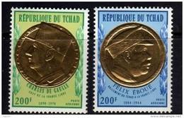 Tchad PA N° 96 / 97 XX  Général De Gaulle Et Félix Eboué, Les 2 Valeurs Sans Charnière, TB - Chad (1960-...)