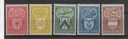 België  N° 743/747  Xx Postfris  Cote 19,00 Euro - Nuevos