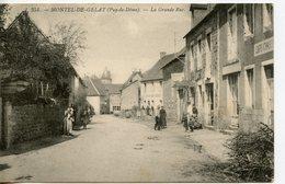 1658. CPA 63 MONTEL-DE-GELAT. LA GRANDE RUE 1909 - Francia