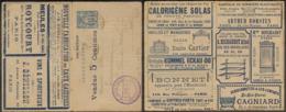 FRANCE Entiers  CL - Type: SAGE 15C Série: 350 (SANS LIVRET INTERIEUR).Calorigène/ Grille Cartier/électricité Téléphone* - Entiers Postaux