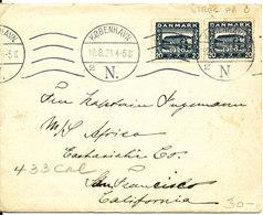 Denmark Cover Sent To USA Copenhagen 21-8-1921 - 1913-47 (Christian X)